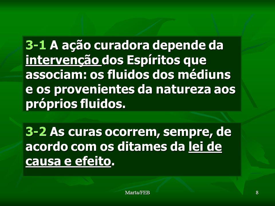 8 3-1 A ação curadora depende da intervenção dos Espíritos que associam: os fluidos dos médiuns e os provenientes da natureza aos próprios fluidos. 3-