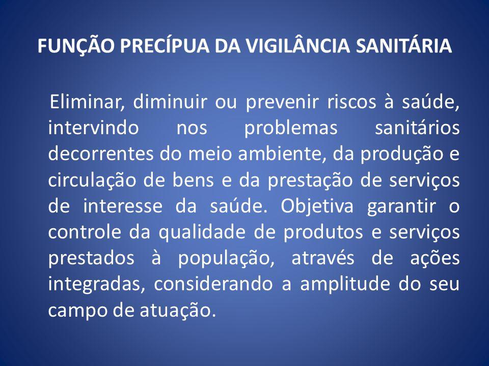 DESCENTRALIZAÇÃO DAS AÇÕES DE VIGILÂNCIA SANITÁRIA A PT/MS 1565/94 define no art.