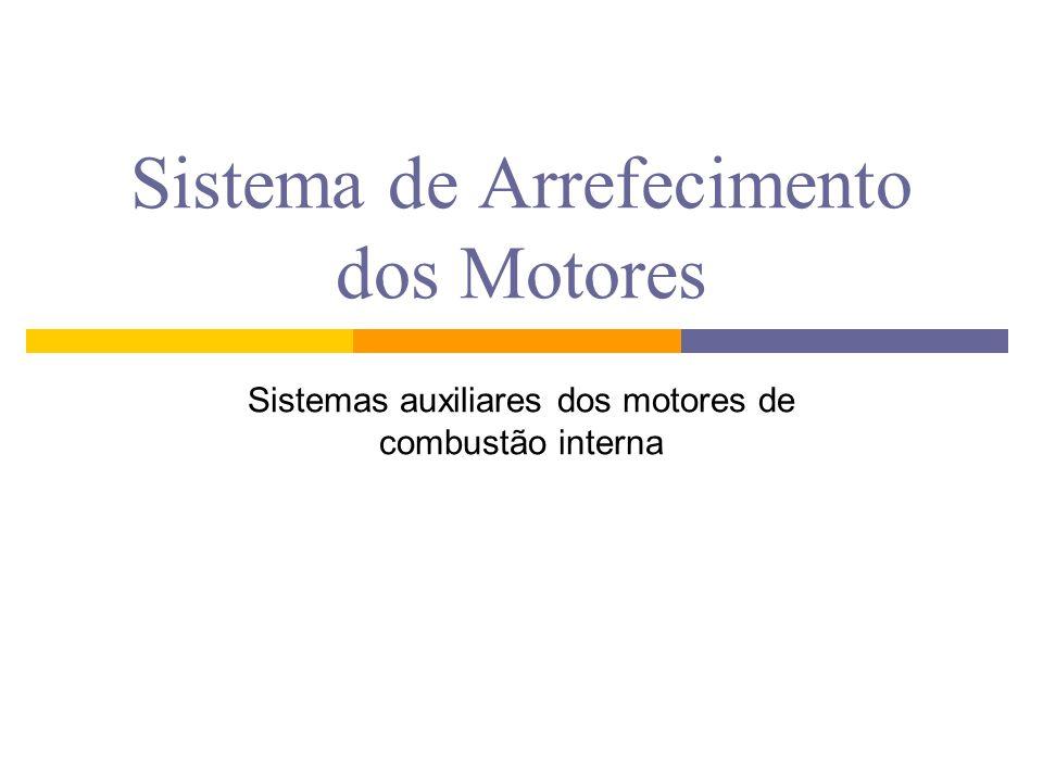 SISTEMA DE ARREFECIMENTO O sistema de arrefecimento é um conjunto de dispositivos eletromecânicos Tem como função controlar a temperatura dos motores de combustão interna.