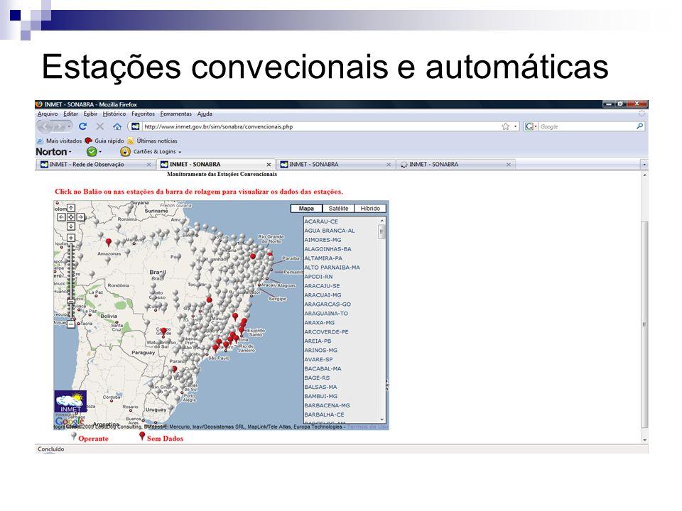 Estações convecionais e automáticas