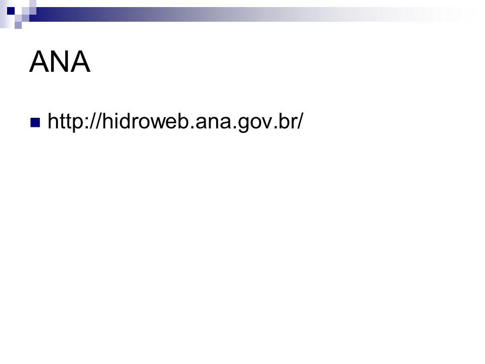 ANA http://hidroweb.ana.gov.br/