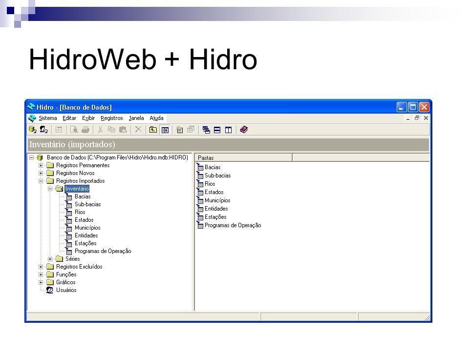 HidroWeb + Hidro