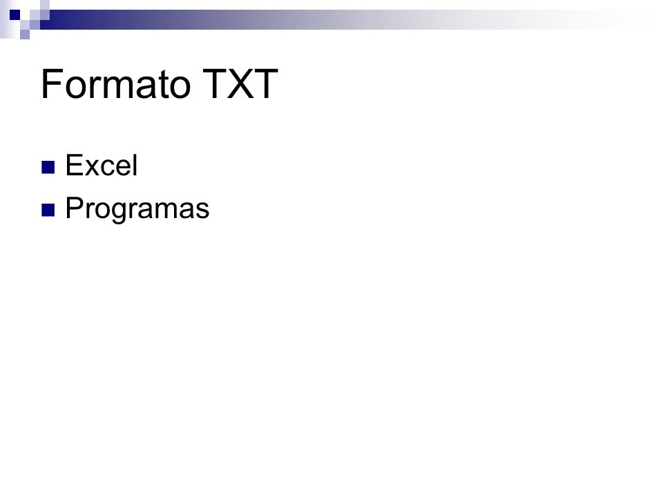 Excel Programas