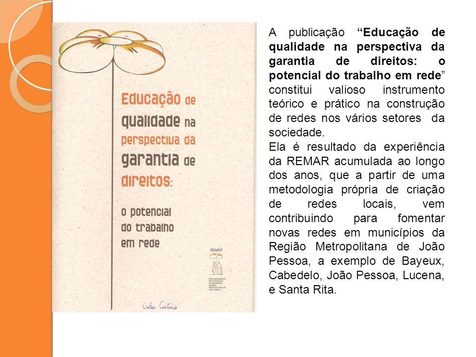 A publicação Educação de qualidade na perspectiva da garantia de direitos: o potencial do trabalho em rede constitui valioso instrumento teórico e prá