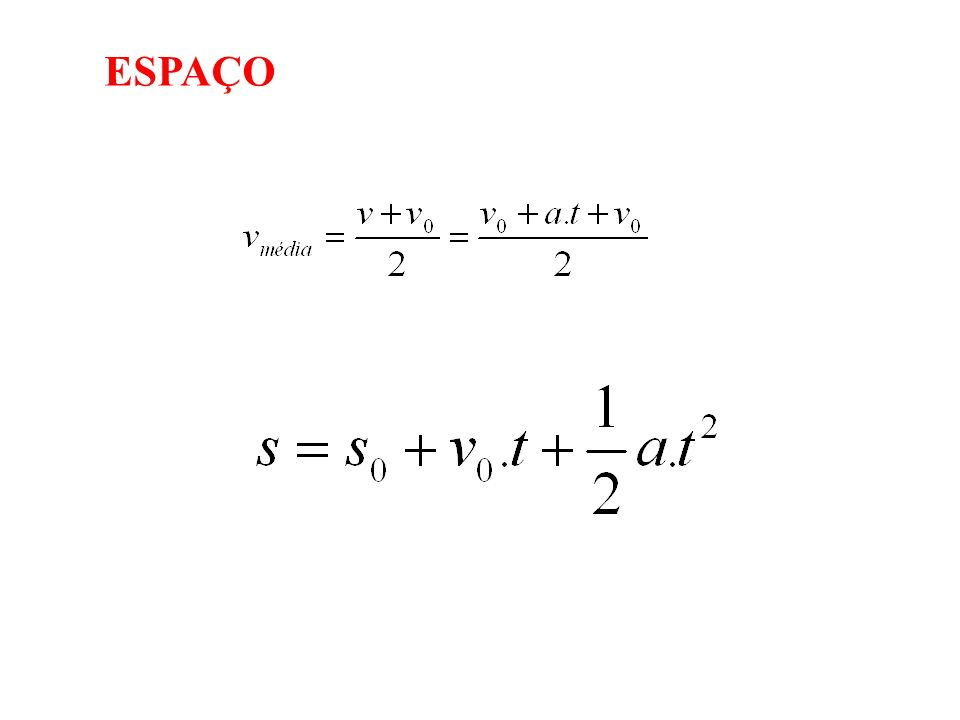 Cálculo do instante e posição de encontro: S moto = S carro t 2 = 20.t Tempo: 0 e 20 s Posição: 400 m
