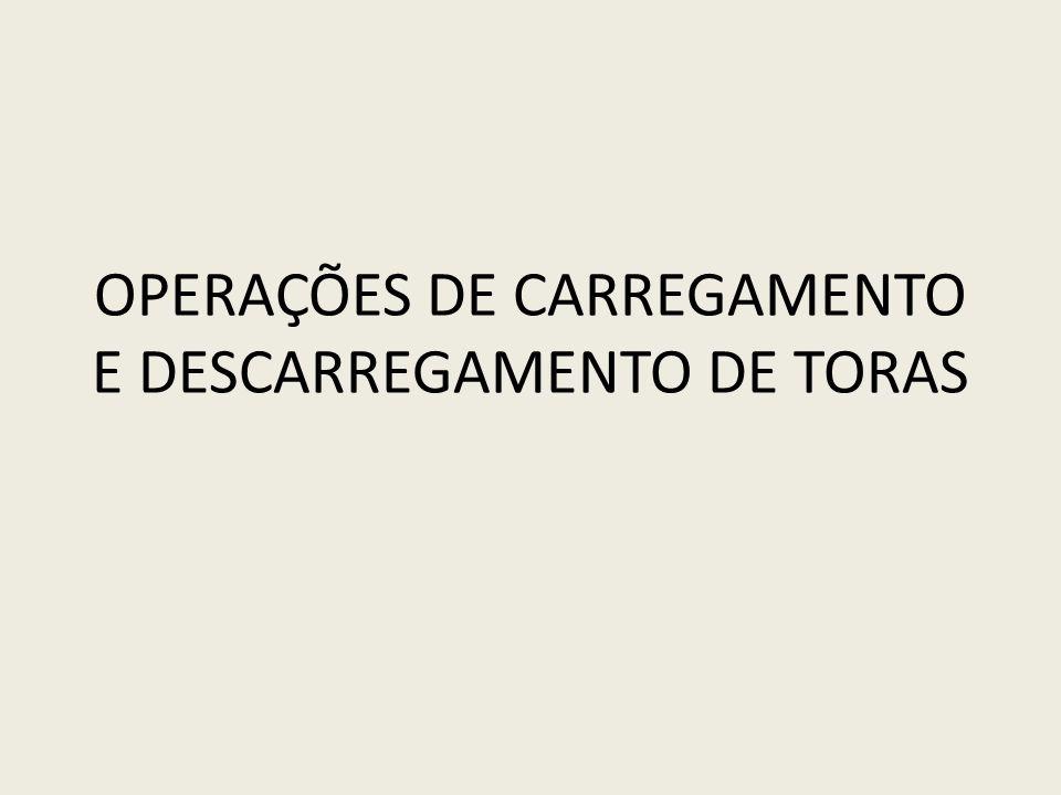 OPERAÇÕES DE CARREGAMENTO E DESCARREGAMENTO DE TORAS