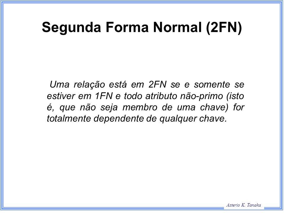 George Hamilton Slide Title Asterio K. Tanaka Segunda Forma Normal (2FN) Uma relação está em 2FN se e somente se estiver em 1FN e todo atributo não-pr