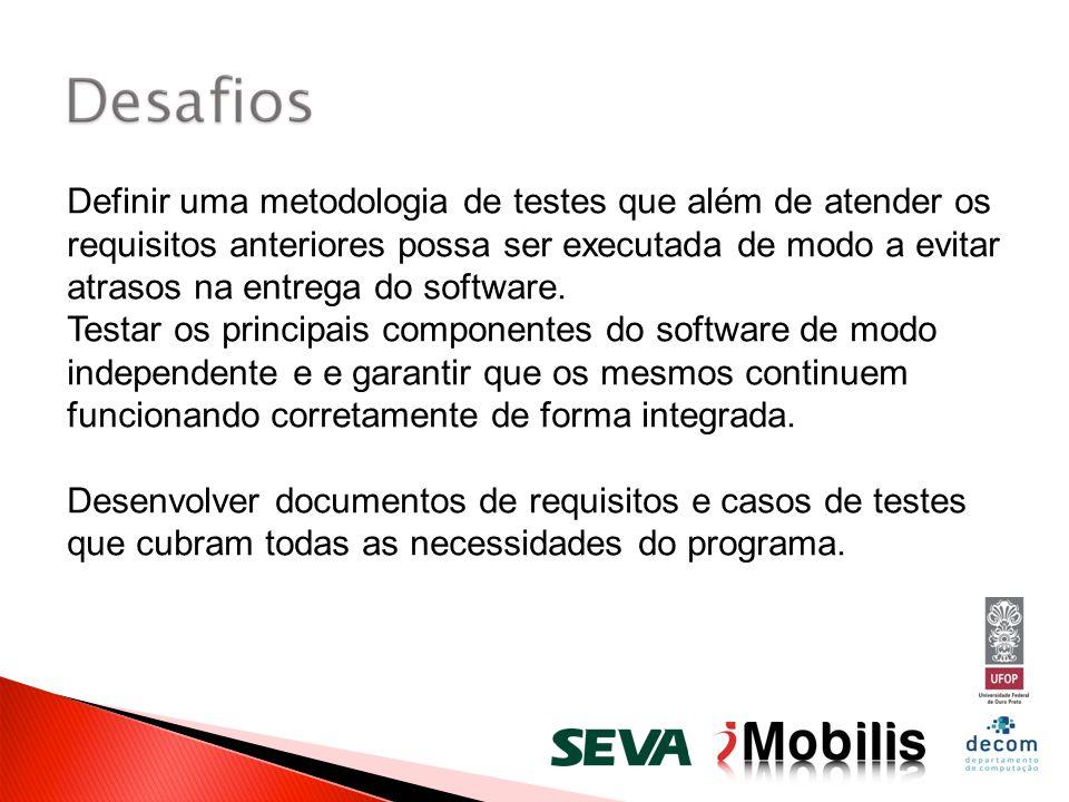 Definir uma metodologia de testes que além de atender os requisitos anteriores possa ser executada de modo a evitar atrasos na entrega do software. Te