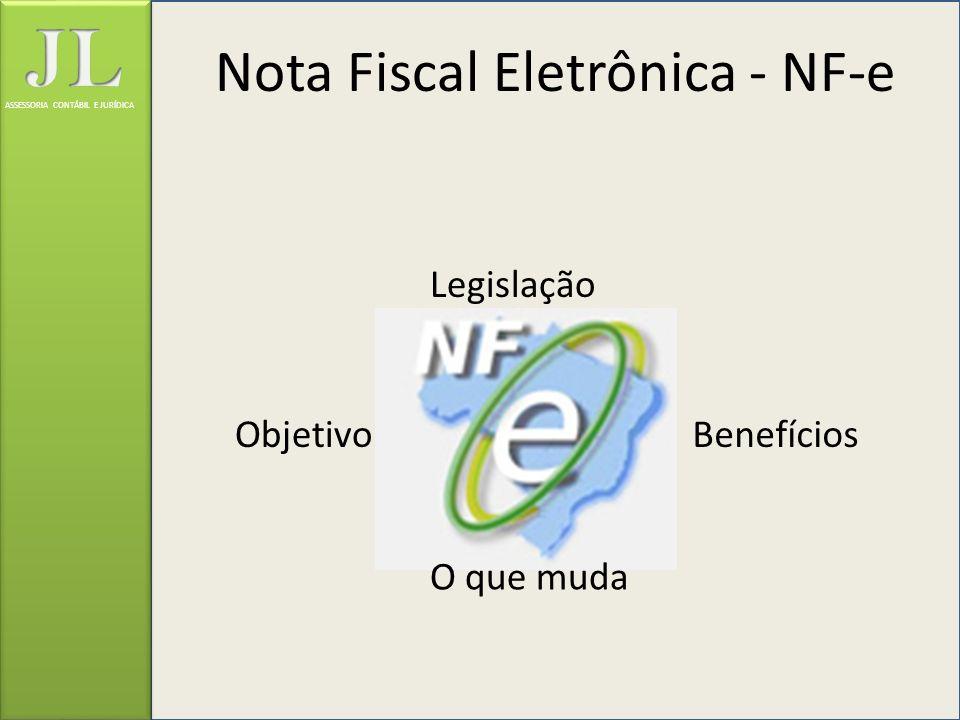 Nota Fiscal Eletrônica - NF-e Legislação BenefíciosObjetivo O que muda ASSESSORIA CONTÁBIL E JURÍDICA