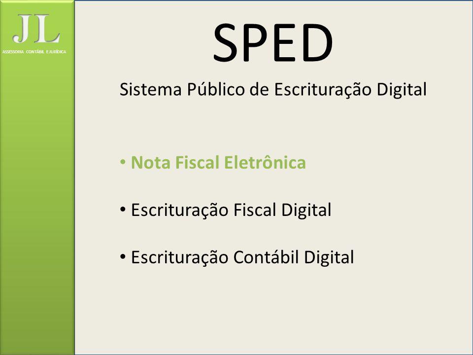 SPED Sistema Público de Escrituração Digital Nota Fiscal Eletrônica Escrituração Fiscal Digital Escrituração Contábil Digital ASSESSORIA CONTÁBIL E JU