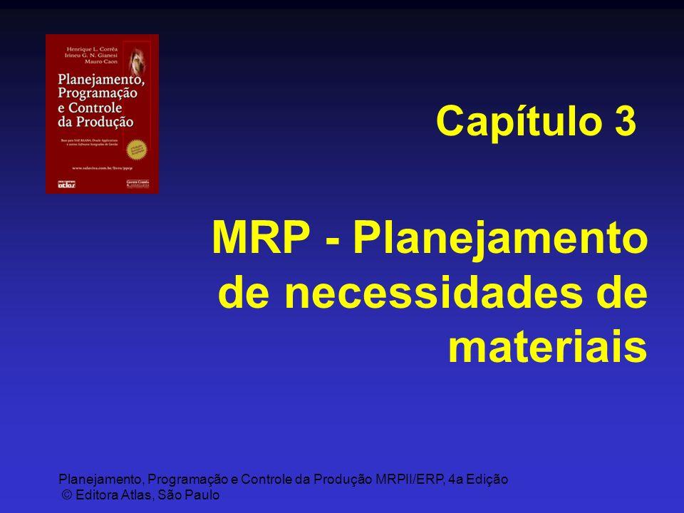 Planejamento, Programação e Controle da Produção MRPII/ERP, 4a Edição © Editora Atlas, São Paulo MRP - Planejamento de necessidades de materiais Capít
