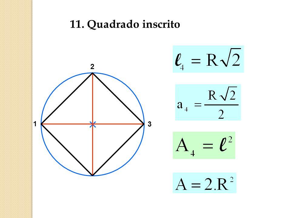 11. Quadrado inscrito 3 2 1