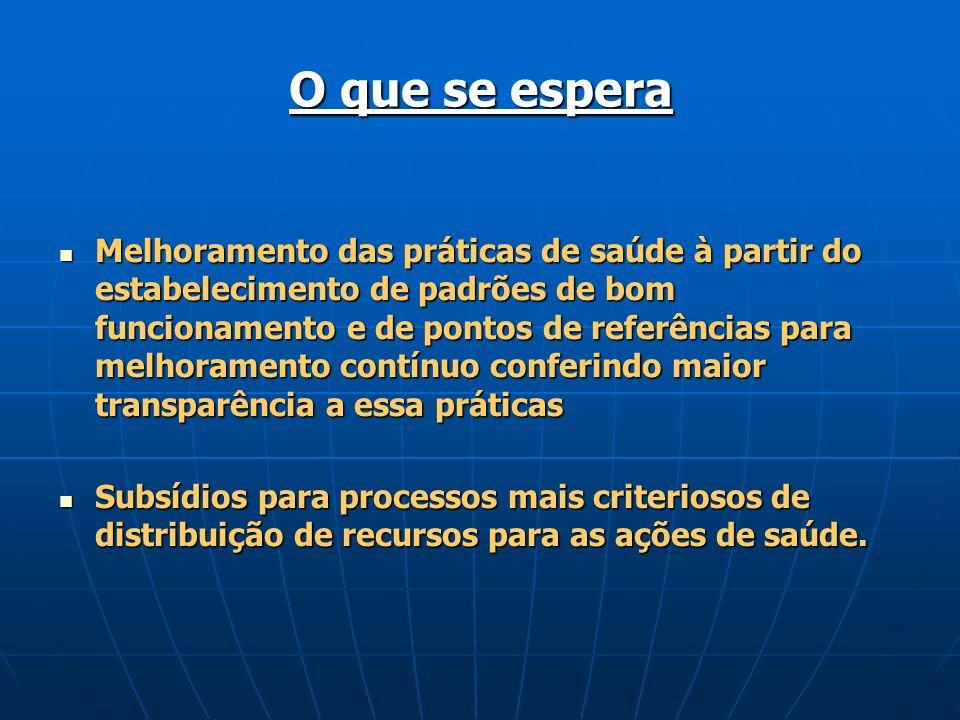 O Processo de Medição das FESP em Goiás Objetivo: Medir o desempenho das FESP, na gestão estadual do SUS em Goiás, visando o fortalecimento das áreas mais fragilizadas.