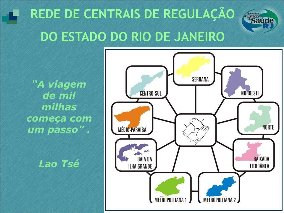 REDE DE CENTRAIS DE REGULAÇÃO DO ESTADO DO RIO DE JANEIRO A viagem de mil milhas começa com um passo. Lao Tsé