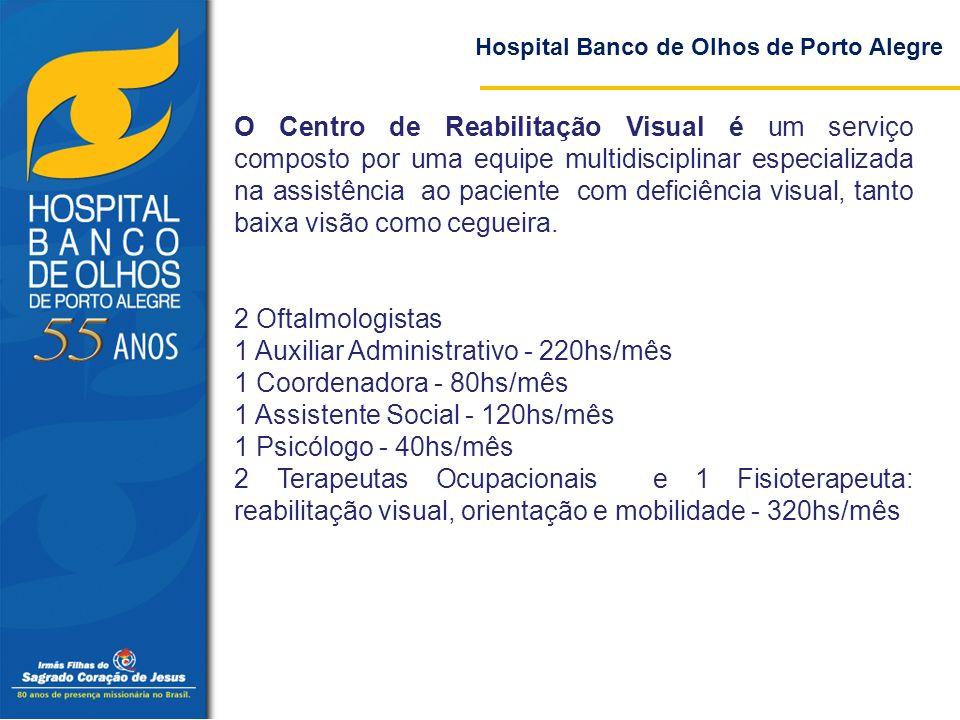 O Centro de Reabilitação Visual é um serviço composto por uma equipe multidisciplinar especializada na assistência ao paciente com deficiência visual,