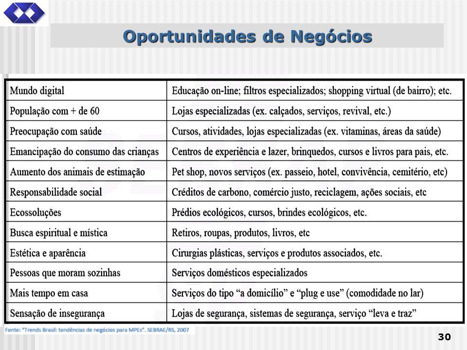 30 Oportunidades de Negócios