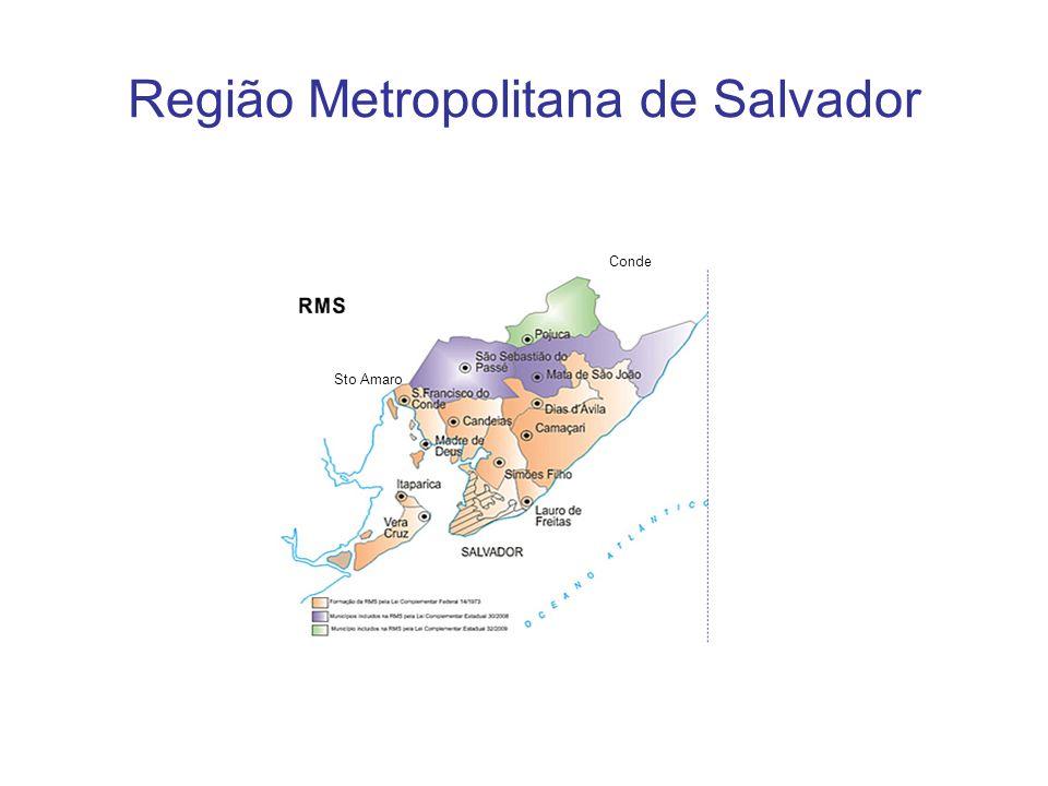 Região Metropolitana de Salvador Sto Amaro Conde