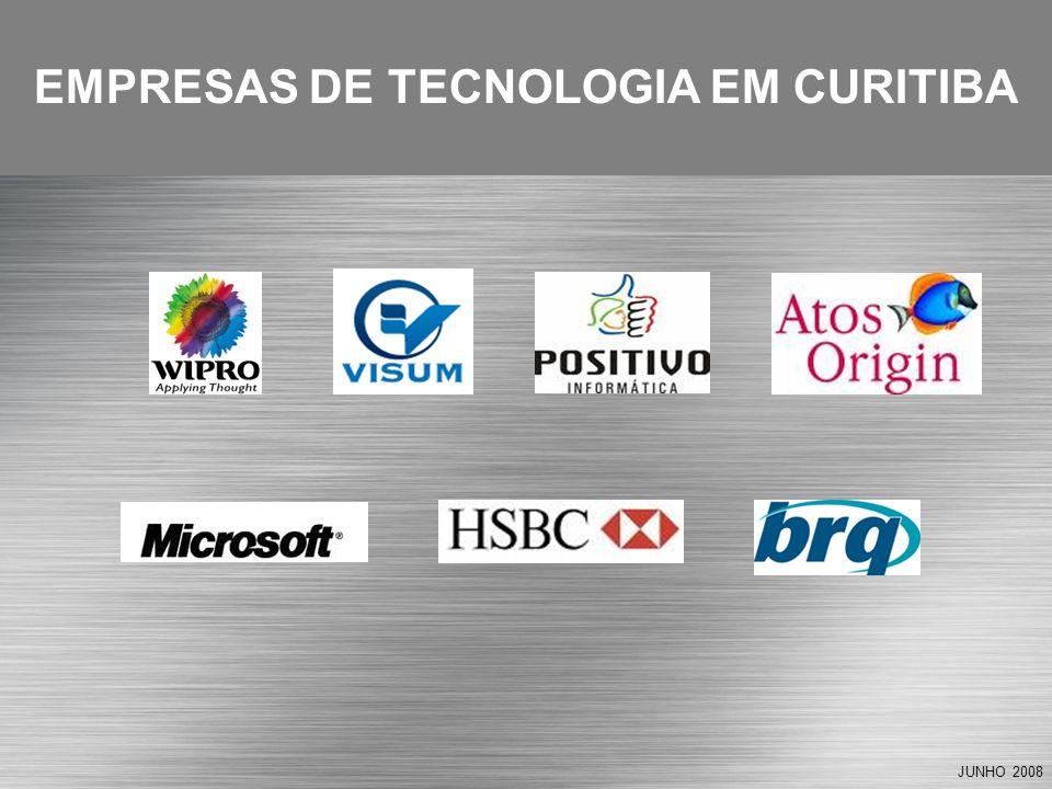 JUNHO 2008 EMPRESAS DE TECNOLOGIA EM CURITIBA