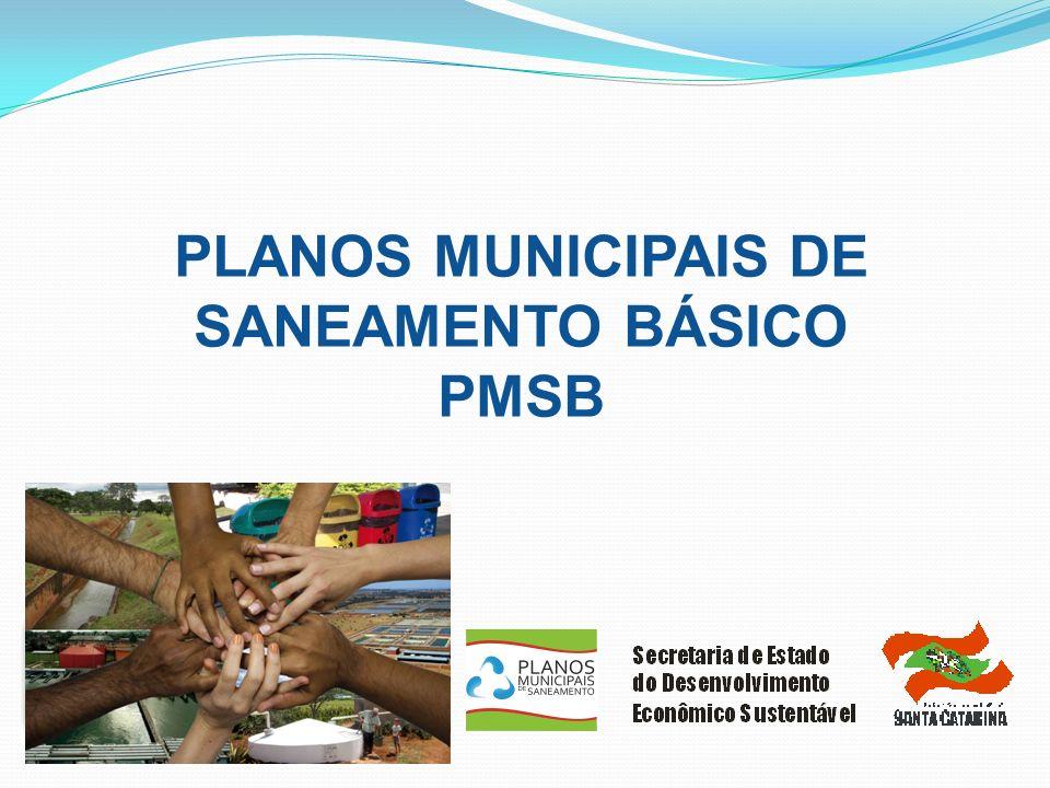 PLANOS MUNICIPAIS DE SANEAMENTO BÁSICO PMSB