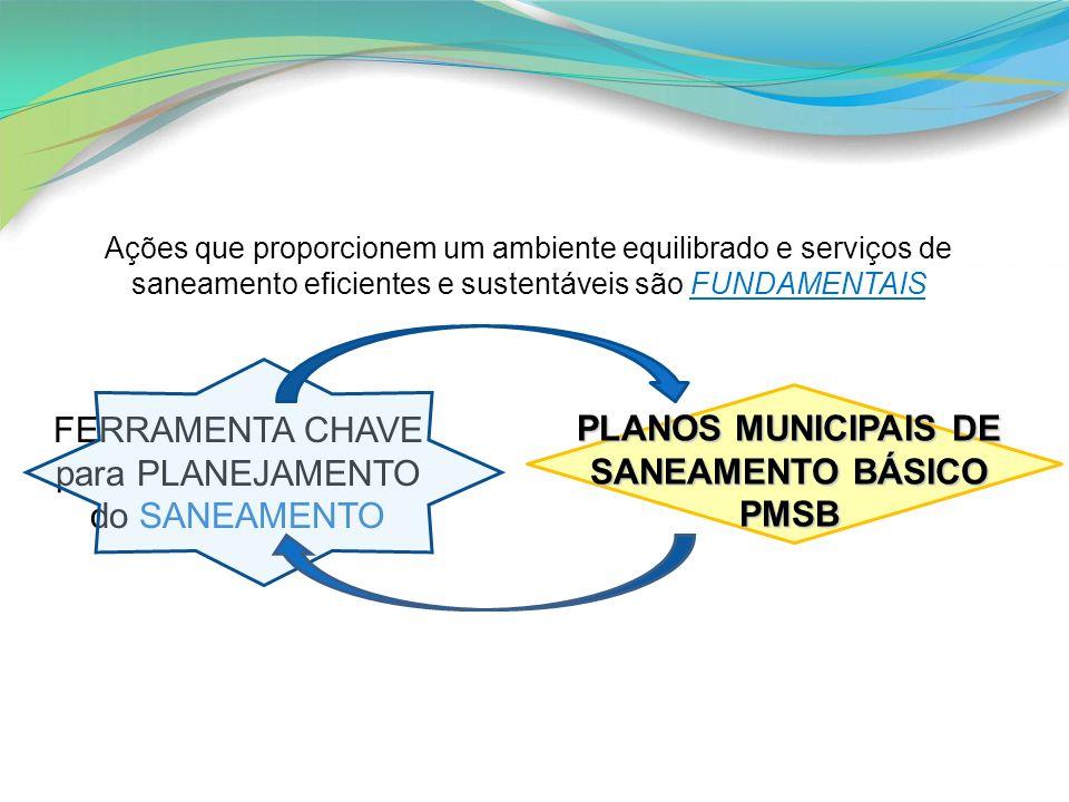 Ações que proporcionem um ambiente equilibrado e serviços de saneamento eficientes e sustentáveis são FUNDAMENTAIS FERRAMENTA CHAVE para PLANEJAMENTO
