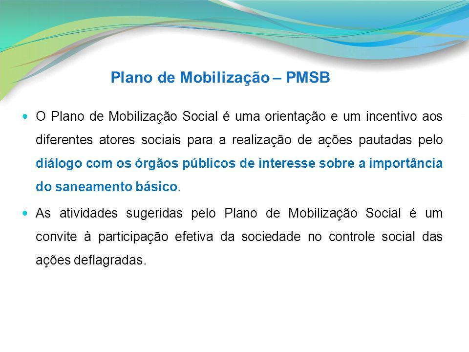 O Plano de Mobilização Social é uma orientação e um incentivo aos diferentes atores sociais para a realização de ações pautadas pelo diálogo com os ór