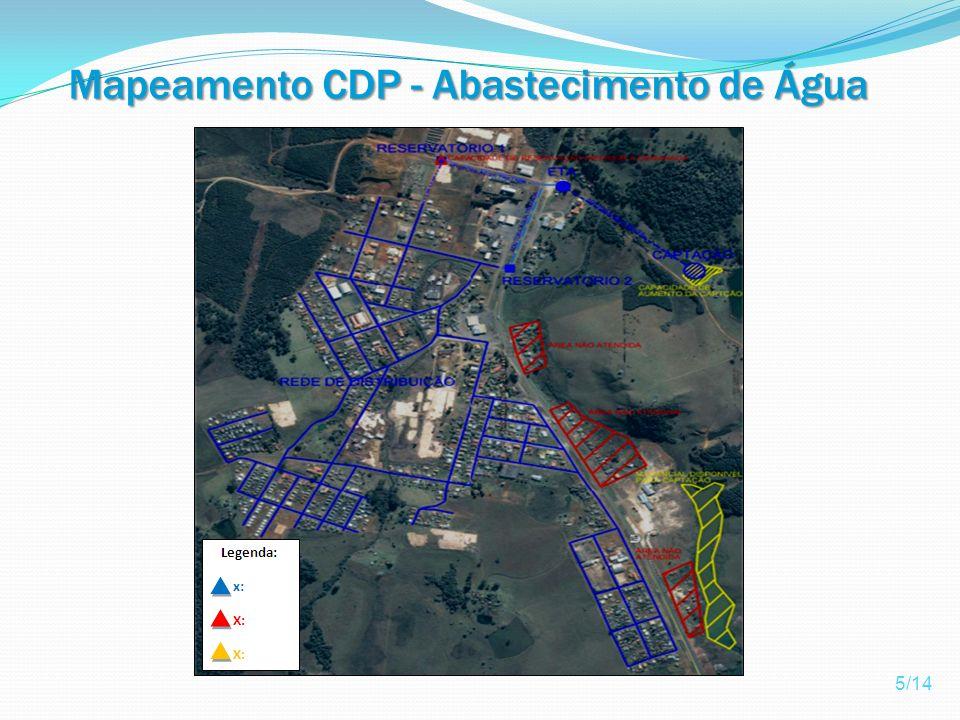 Mapeamento CDP - Abastecimento de Água 5/14