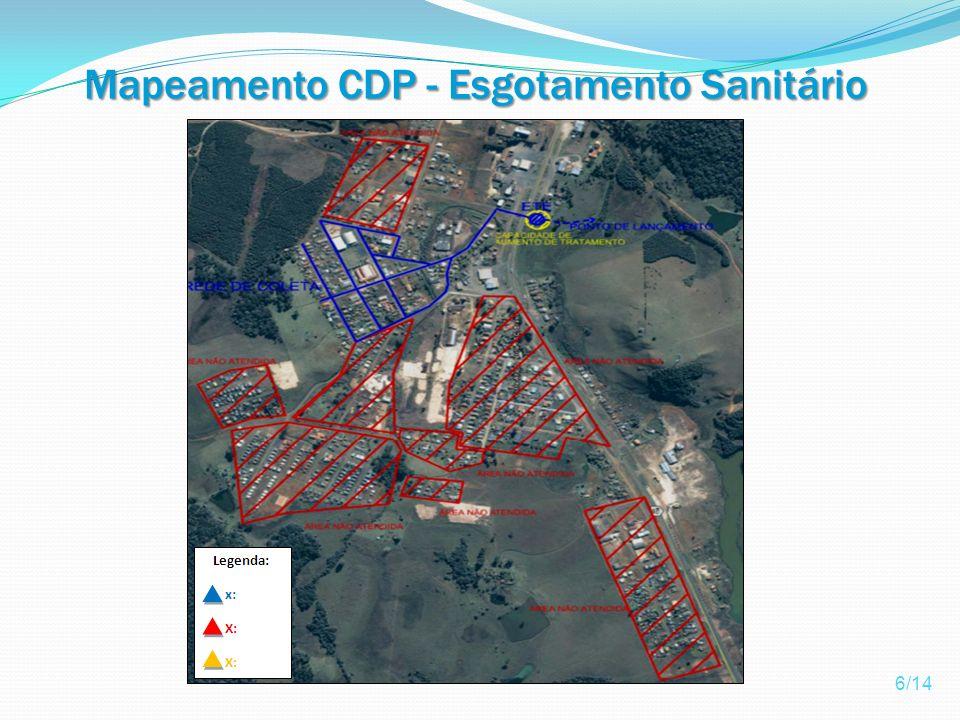 Mapeamento CDP - Esgotamento Sanitário 6/14