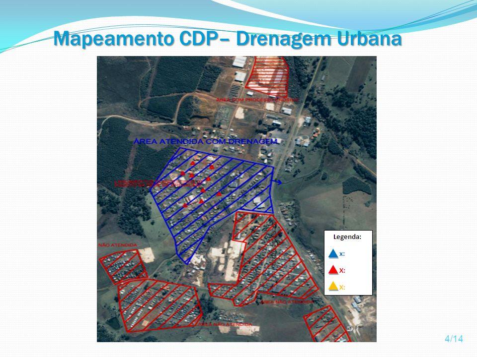 Mapeamento CDP– Drenagem Urbana Pluvial 4/14