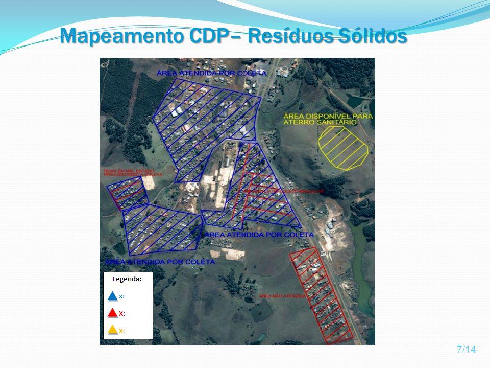 Mapeamento CDP– Resíduos Sólidos 7/14