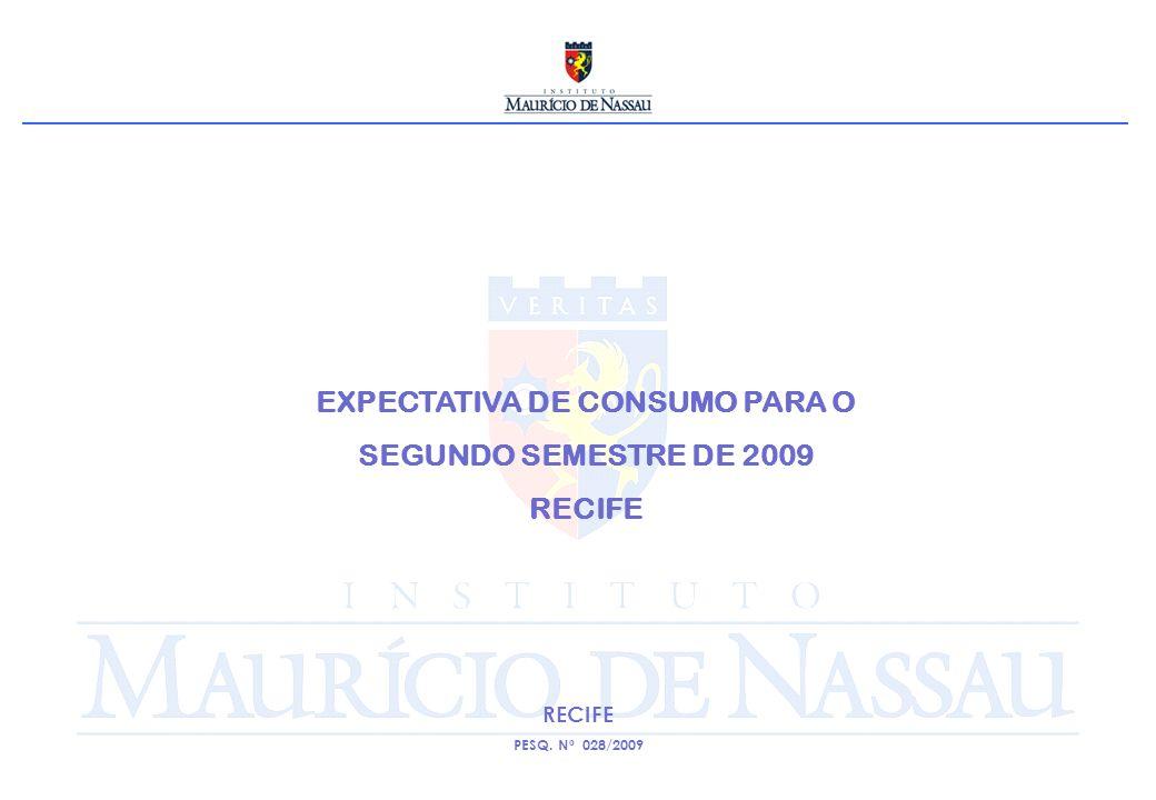 EXPECTATIVA DE CONSUMO PARA O SEGUNDO SEMESTRE DE 2009 RECIFE PESQ. Nº 028/2009