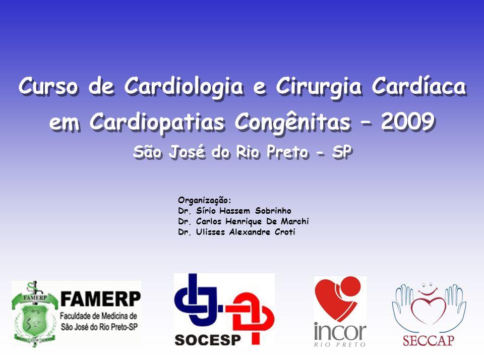 Organização: Dr. Sírio Hassem Sobrinho Dr. Carlos Henrique De Marchi Dr. Ulisses Alexandre Croti Curso de Cardiologia e Cirurgia Cardíaca em Cardiopat