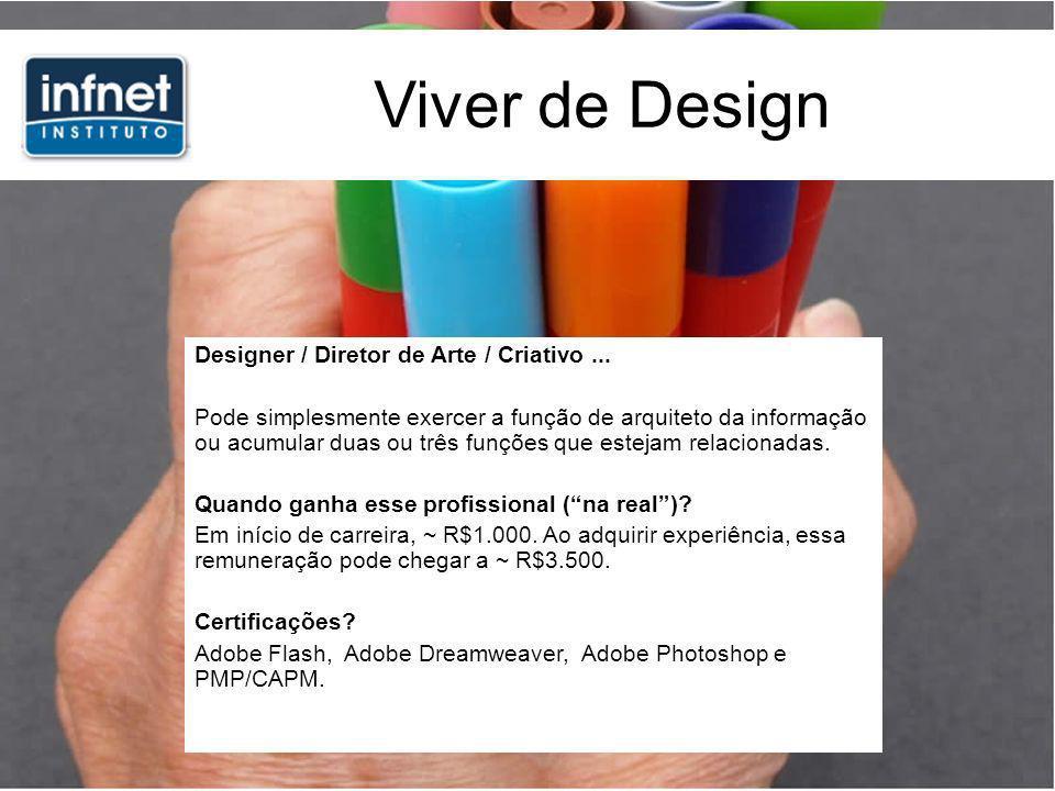 Viver de Design Designer / Diretor de Arte / Criativo...