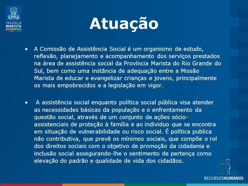 Os Centros Sociais estão localizados em Porto Alegre e interior do Estado do RS.