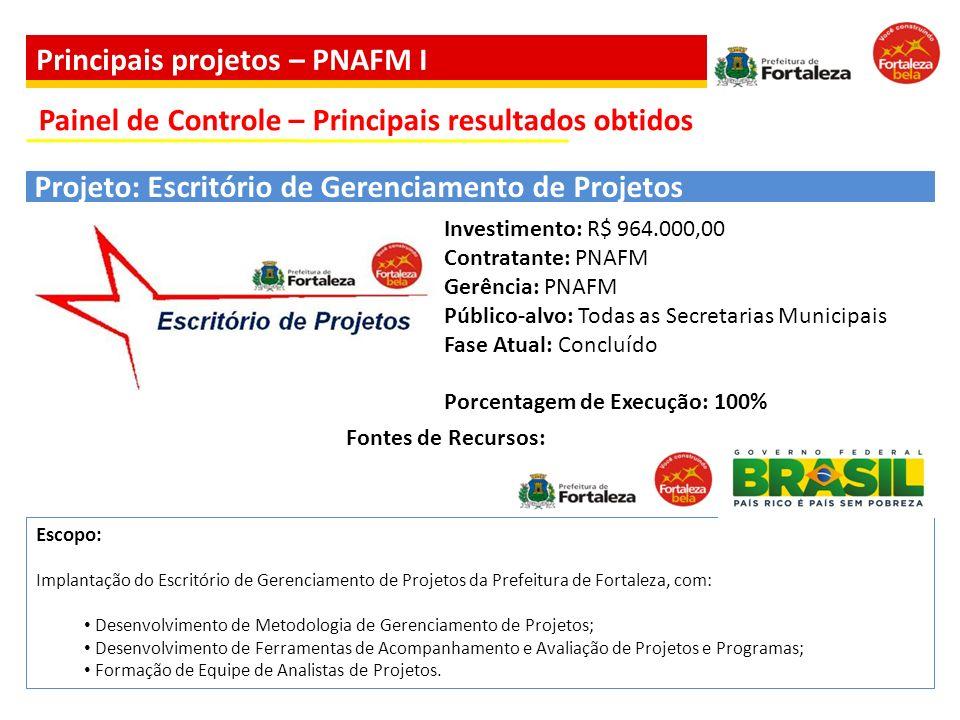 Escopo: Implantação do Escritório de Gerenciamento de Projetos da Prefeitura de Fortaleza, com: Desenvolvimento de Metodologia de Gerenciamento de Pro