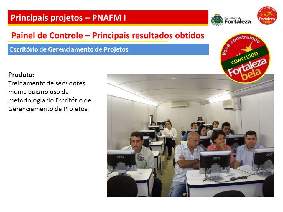 Produto: Treinamento de servidores municipais no uso da metodologia do Escritório de Gerenciamento de Projetos. Escritório de Gerenciamento de Projeto