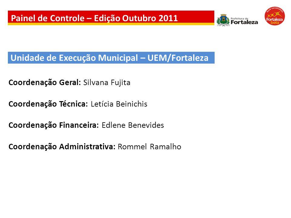 Unidade de Execução Municipal – UEM/Fortaleza Coordenação Geral: Silvana Fujita Coordenação Técnica: Letícia Beinichis Coordenação Financeira: Edlene