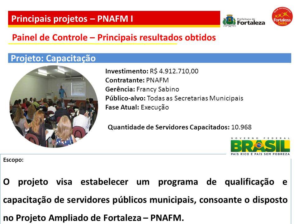 Escopo: O projeto visa estabelecer um programa de qualificação e capacitação de servidores públicos municipais, consoante o disposto no Projeto Amplia