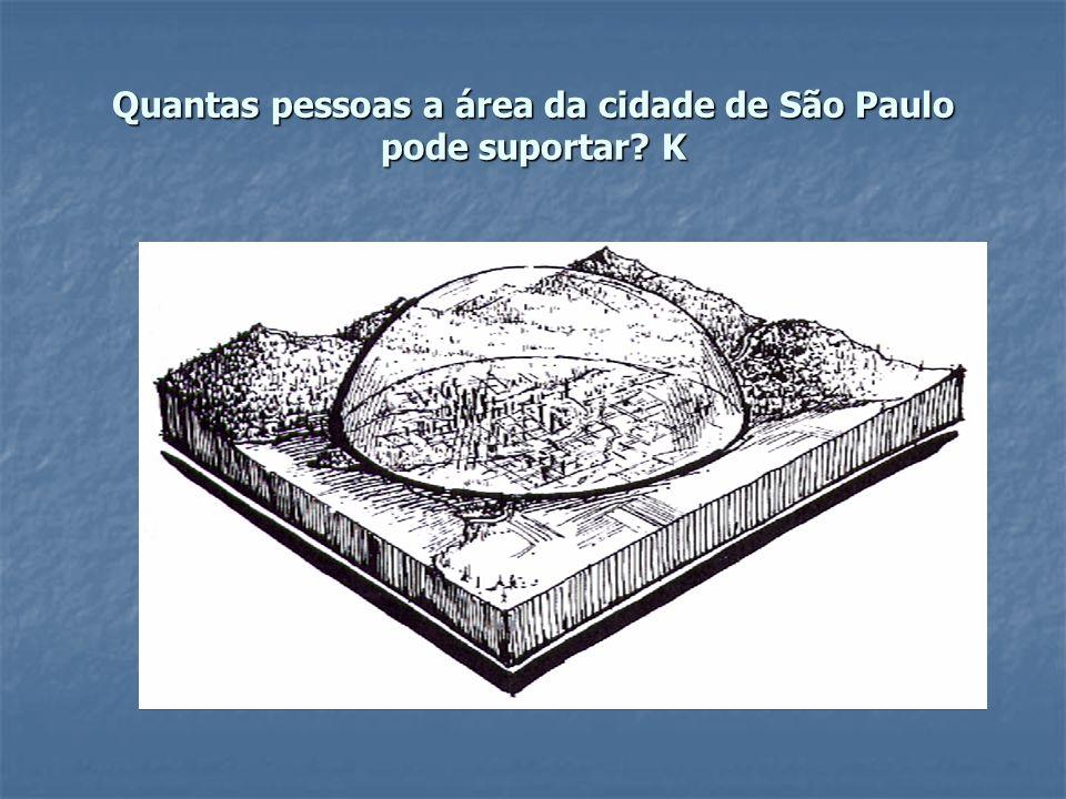 Quantas pessoas a área da cidade de São Paulo pode suportar? K