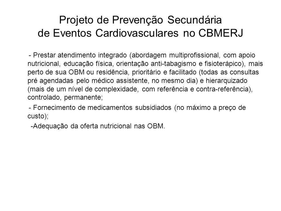 Projeto de Prevenção Secundária de Eventos Cardiovasculares no CBMERJ - Prestar atendimento integrado (abordagem multiprofissional, com apoio nutricio