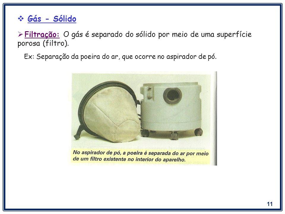 12 Ex: NaCl dissolvido em água.Destilação Simples: quando o interesse estiver no líquido.