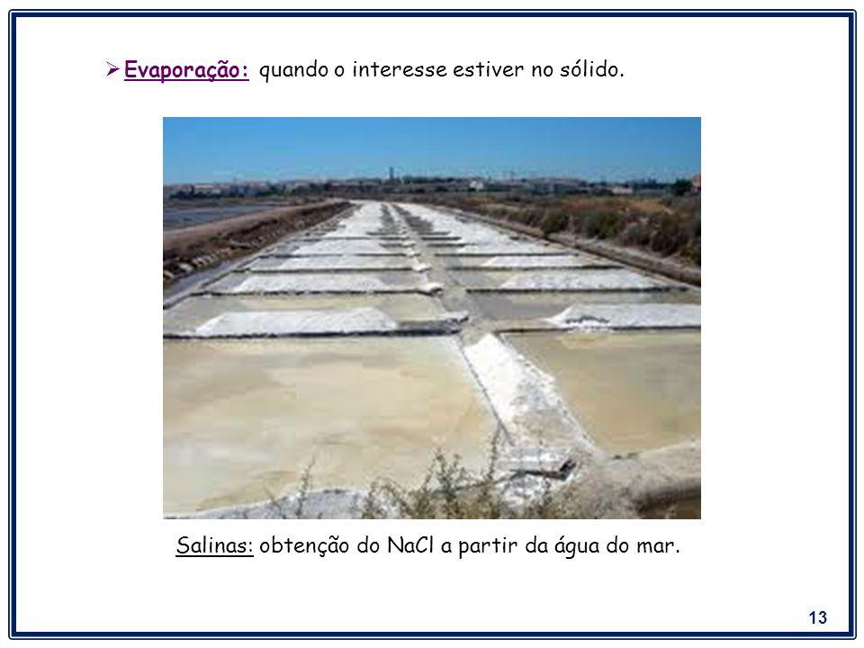 14 Ex: Acetona, etanol e água.