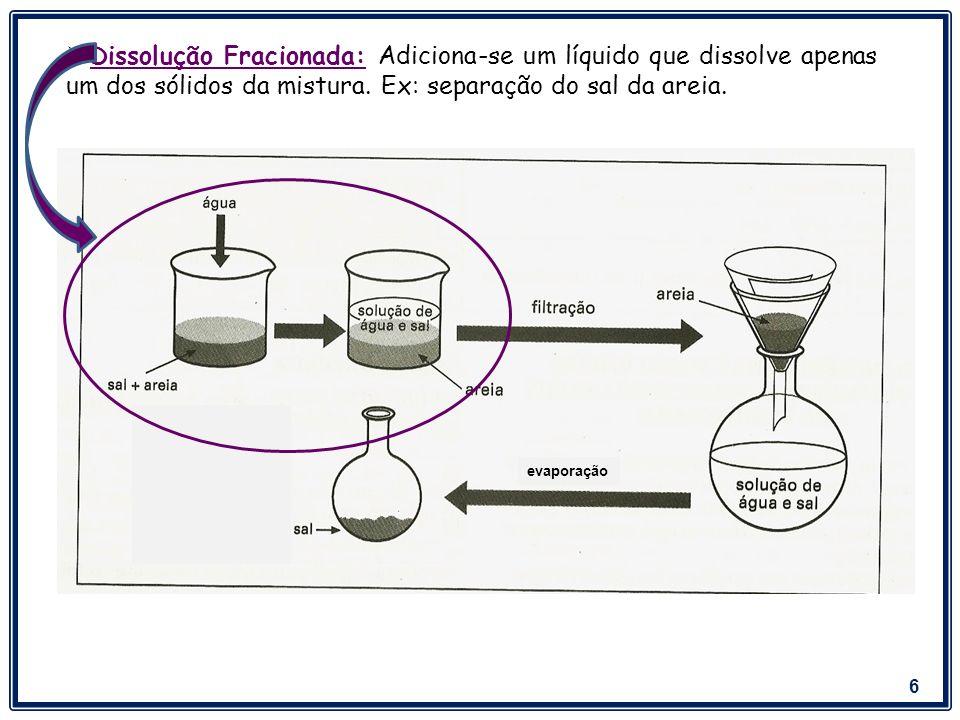 7 Sólido - Líquido Ex: Separação do barro da água.