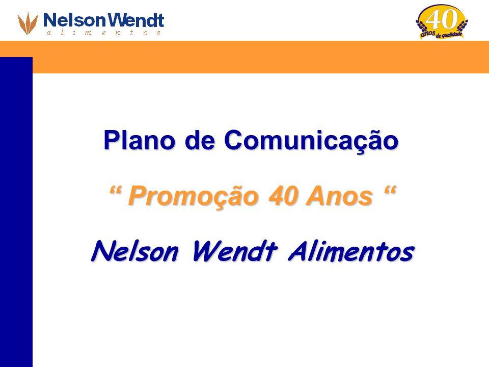 Plano de Comunicação Promoção 40 Anos Promoção 40 Anos Nelson Wendt Alimentos