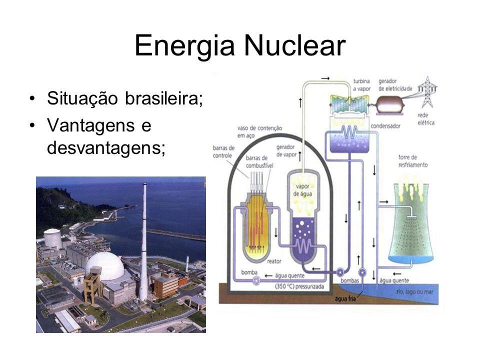 USINAS ANGRA I: capacidade 675 MW – 1980 ANGRA II: capacidade 1350 MW – 2000 ANGRA III: capacidade 1405 MW – 2015 Juntas representam apenas 1,4% da matriz energética brasileira.