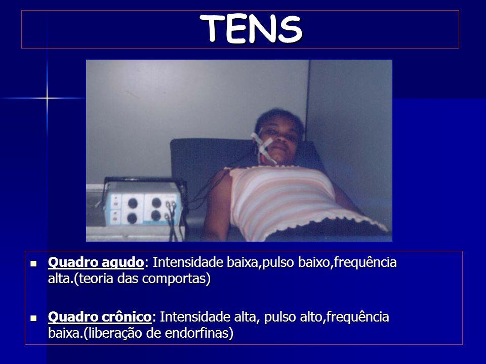 Ultra-som Intensidades baixas Tempo reduzido Modo pulsado Prevenção do efeito de cavitação Ação terapêutica