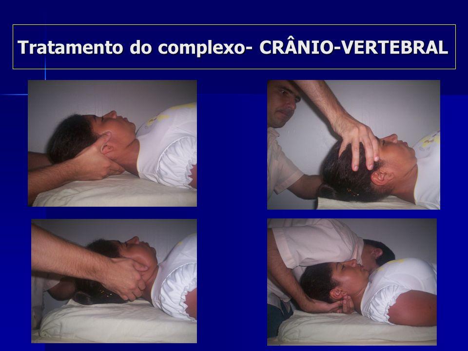 Sequência de tratamento Complexo-crânio-vertebral Sequência de tratamento Complexo-crânio-vertebral Distração cervical(6seg.) Distração cervical(6seg.