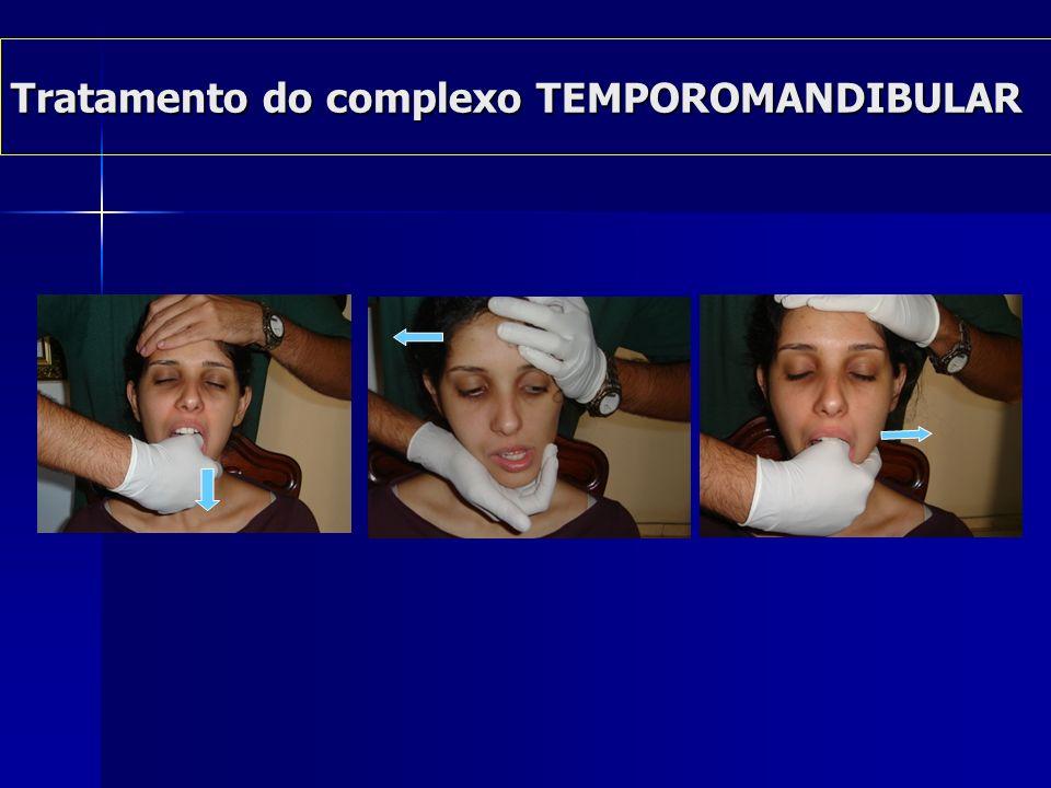 Tratamento das alterações- MIOFASCIAIS Tratamento das alterações- MIOFASCIAIS Massoterapia (cervical e intra – oral) Traços miofasciais Alongamentos e