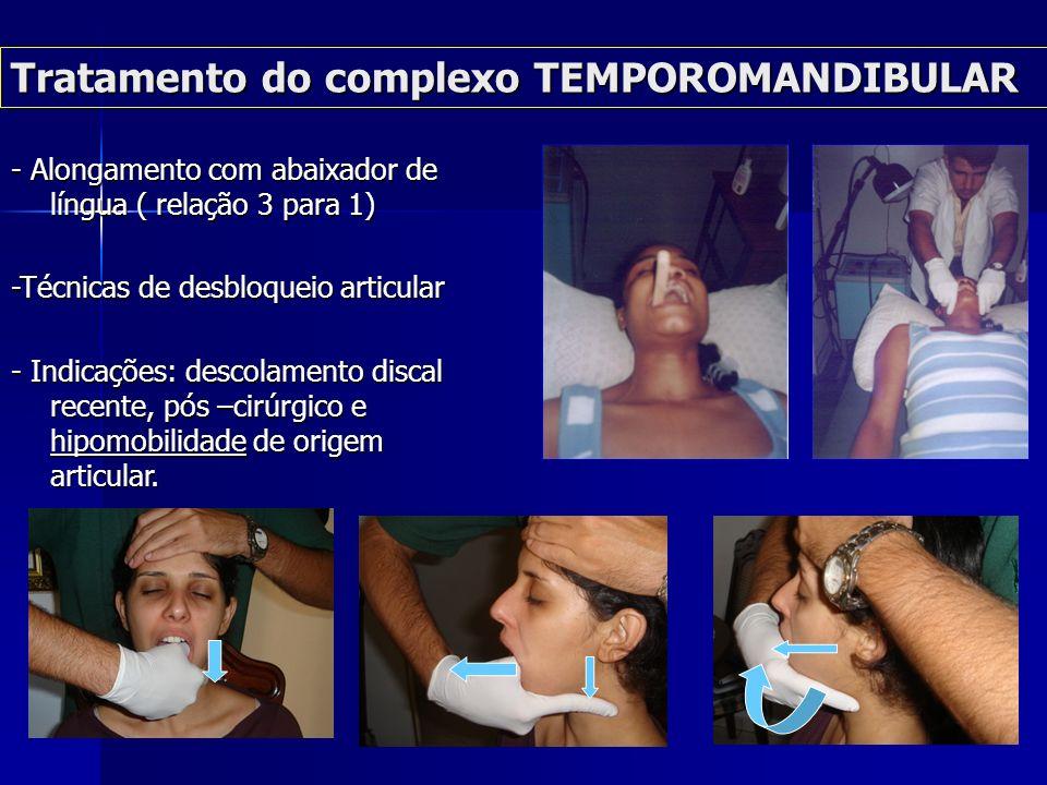Tratamento do complexo TEMPOROMANDIBULAR Tratamento do complexo TEMPOROMANDIBULAR TÉCNICA DE RODAR CÔNDILO- DISCAL POSTERIOR COM HIPERBOLÓIDE TÉCNICA