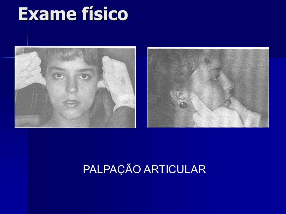 Exame físico PALPAÇÃO ARTICULAR