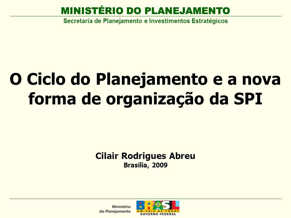 MINISTÉRIO DO PLANEJAMENTO Estrutura Organizacional da SPI Secretaria de Planejamento e Investimentos Estratégicos